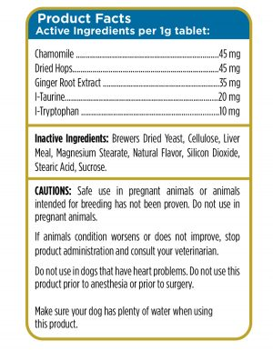 Calming Aid for Dogs Product Facts