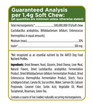 Digestion Support for Dogs Guaranteed Analysis