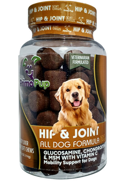 Jar of Hip & Joint Support Soft Chews for Dogs