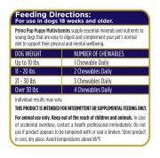 Puppy Multivitamin Feeding Directions