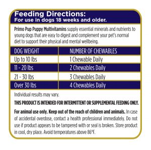 Puppy Multivitamin Feeding Directions